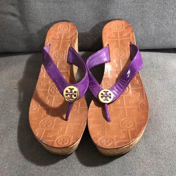 1d534860eb3e05 New without tag TORY BURCH purple sandal sz 6. M 5b5e10251070eecc07470803